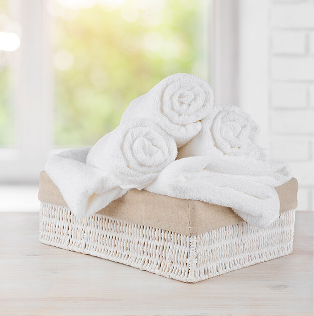 warm scented towels